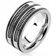 Ocelový prsten 4604