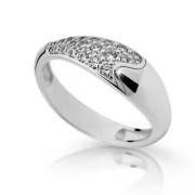 Prstýnek s kamínky stříbro 2309