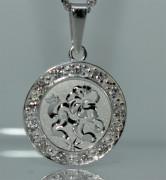 Přívěsek stříbro se zirkony se znamením Lva SZZ008