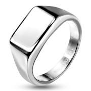 Unisex ocelový pečetní prsten 7685ST