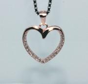 Stříbrný přívěsek srdce 308027
