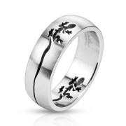 Ocelový prsten Spikes 2478