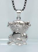 Stříbrný přívěsek na řetízek kočička 308054