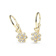 Náušnice pro miminko zlaté Cutie Jewellery C2746Z-Bílá