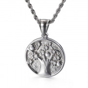 Ocelový náhrdelník strom života WJHC438