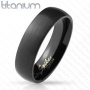 Elegantní černý titanový prsten SERTM3882