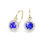Zlaté dětské náušnice Cutie Jewellery C2745Z-Blue Dark