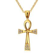 Přívěsek nilský kříž zlatý JCFPN643G