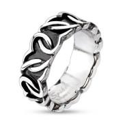 Ocelový prsten Spikes 3863