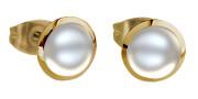 Náušnice s perlami SEE158IPG-White