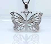 Stříbrný přívěsek na řetízek motýl 308409