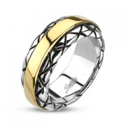 Ocelový prsten Spikes 2002