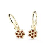 Náušnice pro miminko zlaté Cutie Jewellery C2746Z Červená