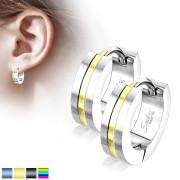 Dámské ocelové náušnice kroužky 3517