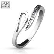 Stříbrný prsten s kamínky SETRSS041