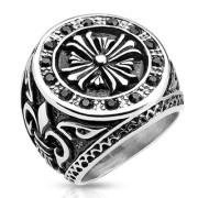 Pánský prsten 9833 - Keltský kříž