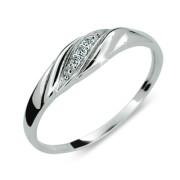 Prstýnek se zirkony stříbro 2084