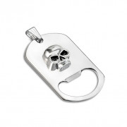 Přívěsek na krk a klíče otvírák s lebkou 6988