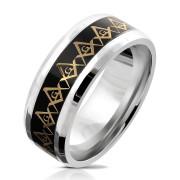 Prsten chirurgická ocel pánský 6038-Svobodní zednáři