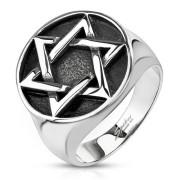 Pánský prsten 8056 - Davidova hvězda