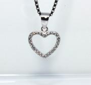 Stříbrný přívěsek srdce 305338