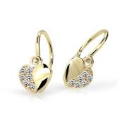náušnice pro miminko Cutie Jewellery C2160Z CZ White