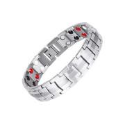 Pánský ocelový náramek s magnety WJHB717
