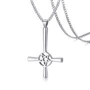 Ocelový přívěsek satanský kříž JCFPN1127S