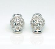 Stříbrné náušnice s kamínky TSE001