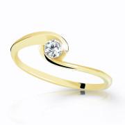 Prstýnek s kamínkem zlatý Z6134Y
