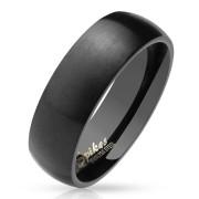 Prsten černý chirurgická ocel 027K