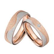 Snubní prstýnky z chirurgické oceli kombinované SPPL030