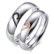 Ocelové svatební prsteny SECR064