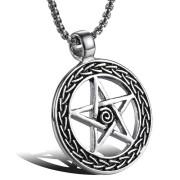Náhrdelník pentagram v kruhu WJHC70