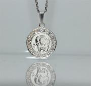 Přívěsek stříbro se zirkony se znamením Kozoroha SZZ001