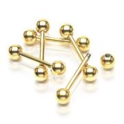 Zlatý piercing do jazyku SEGDPB