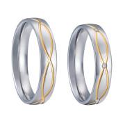 Ocelové snubní prsteny SPPL008