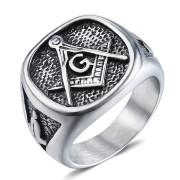 Pečetní prsten chirurgická ocel WJHZ112 - Svobodní zednáři