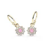 Náušnice pro miminko zlaté Cutie Jewellery C2749Z Růžová