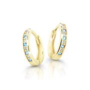 Dětské náušnice kroužky zlaté Cutie Jewellery C3342Z-Světle Modrá