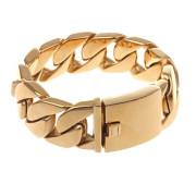 Zlatý ocelový náramek pro muže WJHB43