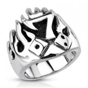 Ocelový prsten Spikes 3992