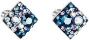 Náušnice pecky s kamínky Swarovski 31169.3 Blue Style