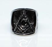 Pečetní prsten chirurgická ocel WJHZ43 - Svobodní zednáři