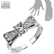 Stříbrný prsten s kamínky SETRSS024