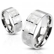Ocelový prsten Spikes 2486