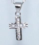 Stříbrný křížek se zirkony 307058