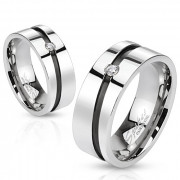 Ocelový prsten Spikes 1012