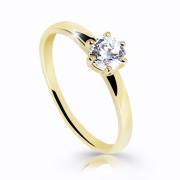 Zlatý zásnubní prstýnek se zirkonem Z6484Y