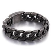 Pánský ocelový náramek šedý WJHB333